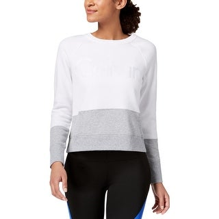 Calvin Klein Performance Womens Pullover Sweater Colorblocked Long Sleeve - S