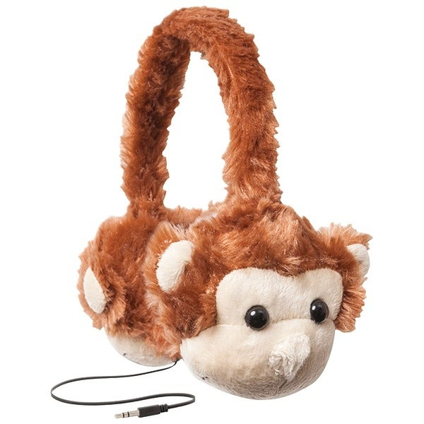 Retrak Etaudfmnky Retractable Animalz Headphones (Monkey)