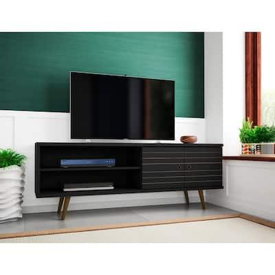Liberty Mid-Century Modern 3-Shelf TV Stand