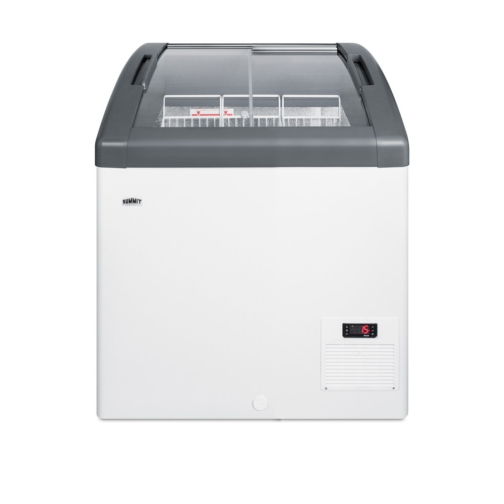 "Summit  FOCUS73  Commercial 30"" Wide 5.7 Cu. Ft. Capacity Food & Beverage Freezer Merchandiser - White (White)"
