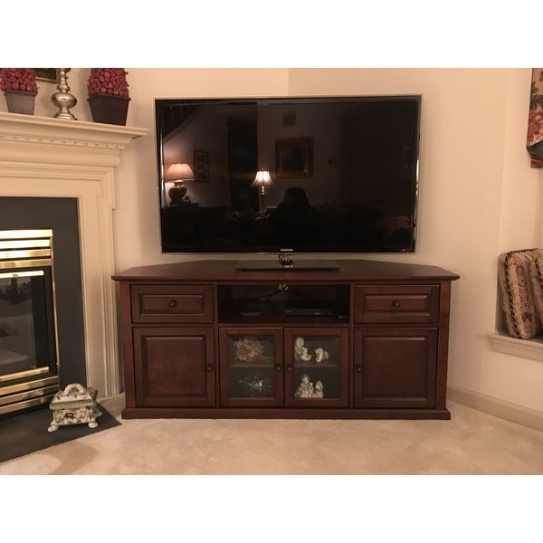 Shop Vintage Mahogany 60 Inch Corner Tv Stand Free Shipping Today
