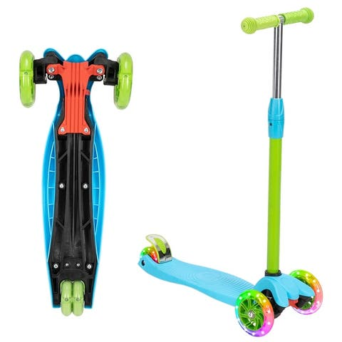3 Wheel Kids Scooter 3 Height Adjustable Pu Flashing Wheels