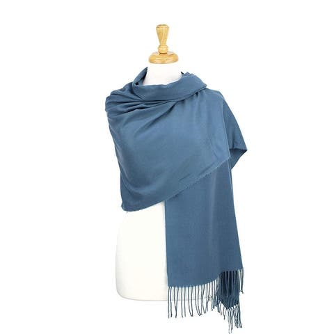 Cashmere Wool Solid Pashmina Shawl Scarf, Cozy For Women And Men - Large