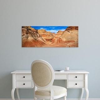 Easy Art Prints Panoramic Images's 'Canyon on a landscape, Vermillion Cliffs, Arizona, USA' Premium Canvas Art