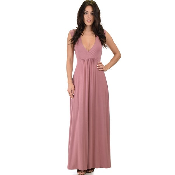 0fe5c09367 Shop sweetest kiss sleeveless maxi dress-Mauve-X-Large - Free Shipping On  Orders Over  45 - Overstock - 23109365