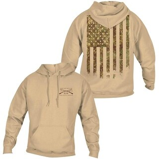 Grunt Style Woodland Camo Flag Pullover Hoodie - Sand