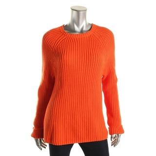 Lauren Ralph Lauren Womens Knit Raglan Pullover Sweater