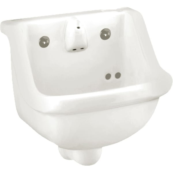 "American Standard 0421.018 Prison 14"" Wall Mounted Porcelain Bathroom Sink - White"