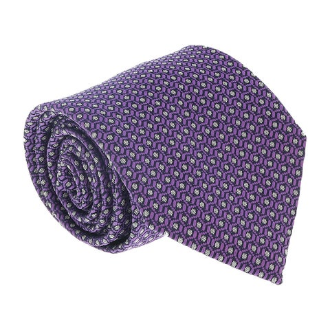Ermenegildo Zegna Lilac Dotted Honeycomb Tie - 60-3