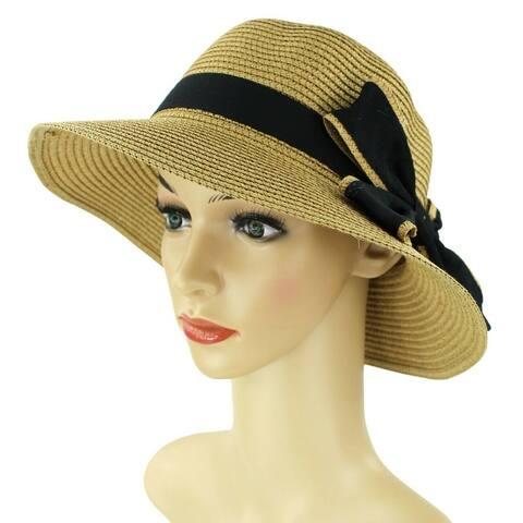 17d7807e5253d Women Straw Hats Sun Hats Summer Hats Packable Floppy with Bow