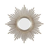 Kenroy Home 60008 Reyes Beveled Round Mirror - Antique Silver - N/A