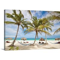 Premium Thick-Wrap Canvas entitled Vacation beach - Multi-color