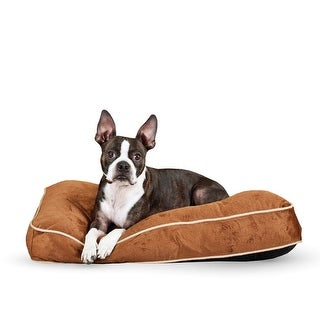 "K&H Pet Products Tufted Pillow Top Pet Bed Medium Chocolate 27"" x 36"" x 7.5"""