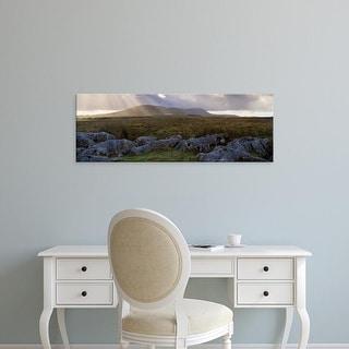 Easy Art Prints Panoramic Image 'Clouds, Ingleborough, Yorkshire Dales, Yorkshire, England, United Kingdom' Canvas Art