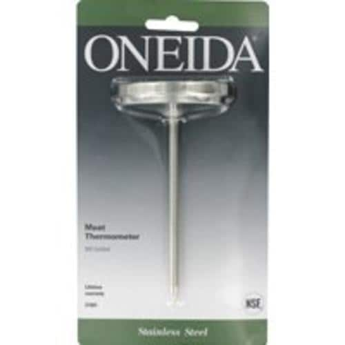Oneida 21001 Large Dial Meat Thermometer, Stainless Steel