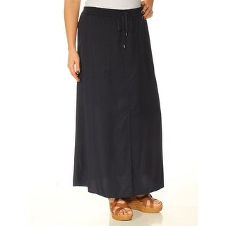 Womens Navy Maxi Shift Skirt Size L