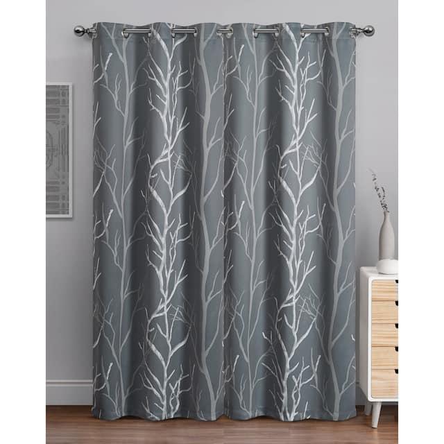 "VCNY Home Kingdom Branch Blackout Curtain Panel - 42"" x 84"""