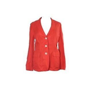 Lauren Ralph Lauren Orange Linen Three-Button Jacket - 8