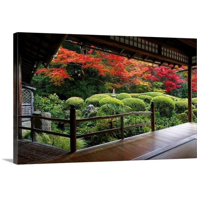 Shop Shisendo S Zen Garden From Meditation Hall Canvas Wall Art