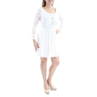 BCX $49 Womens New 1477 Ivory Lace Bell Sleeve Fit + Flare Dress 13 Juniors B+B
