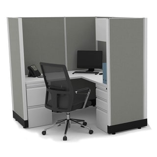 Link to Modular Office Desk Furniture 67H Powered Similar Items in Desks & Computer Tables