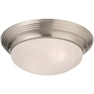 Boston Harbor 563116BN 2 Light Flushmount Ceiling Fixture, Brushed Nickel