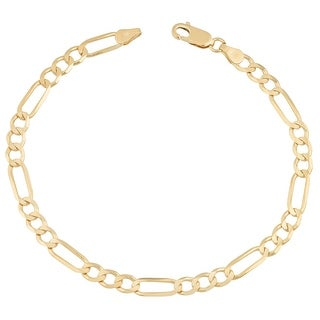 MCS JEWELRY INC 14 KARAT YELLOW GOLD SOLID FIGARO CHAIN NECKLACE (3.1MM)
