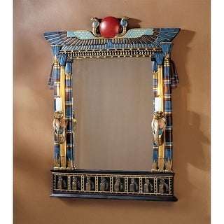 Design Toscano Wadjet Egyptian Wall Mirror with Cobra Sconces