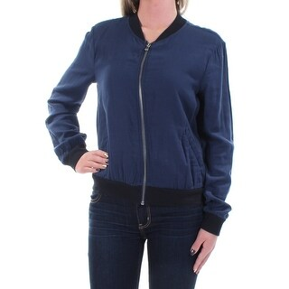 CHELSEA SKY $108 Womens New 1381 Navy Zip Up Casual Jacket M B+B