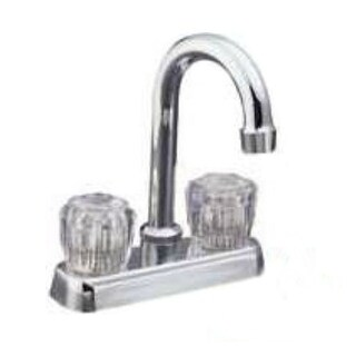 "Mintcraft PFN47850CP-LF Bar Faucet Acrylic, Two Handle, Chrome, 4"""