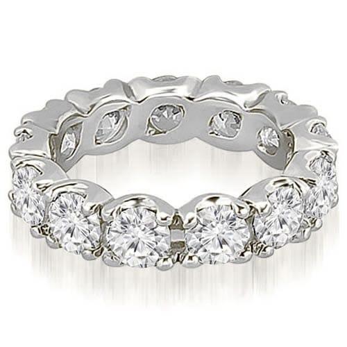 14K White Gold 3.40 cttw. Round Diamond Eternity Ring HI,SI1-2
