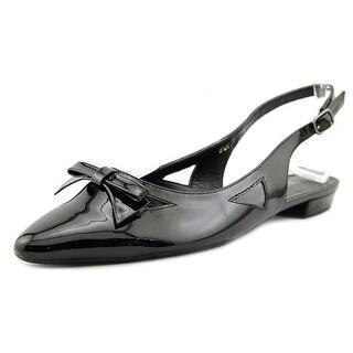 Vaneli Gervasy Women Round Toe Synthetic Black Slingback Sandal