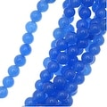 Royal Blue Candy Jade 6mm Round Beads 15.5 Inch Strand - Thumbnail 0