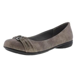 LifeStride Womens Adelle Shimmer Casual Ballet Flats - 6 medium (b,m)