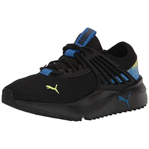 PUMA Pacer Future Disintegration Sneaker Black-French Blue-Nrgy Yellow