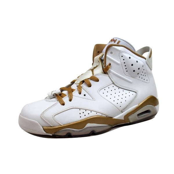 new arrivals a5542 fd4e5 Nike Men's Air Jordan VI 6 Retro White/Metallic Gold GMP Golden Moments  Pack 384664-135