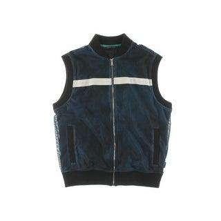 Sean John Mens Casual Vest Mesh Overlay Contrast Trim - M