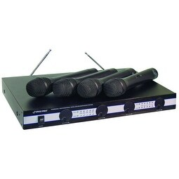 Pyle Pro 4 Microphone VHF Wireless Microphone System
