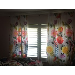 Greenland Home Fashions Watercolor Dreams 63 Inch Curtain Panel Pair