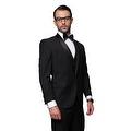 BLACK TUXEDO Men's 3pc Suit, Modern Fit, 1 Button, 2 Side Vent, Flat Front Pants - Thumbnail 0