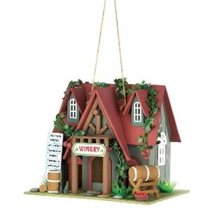 Zingz & Thingz 57071014 Winery Red Roof Wood Cottage Birdhouse