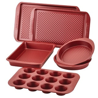 Link to Farberware Colorvive Nonstick Bakeware Set, 6-Piece, Red Similar Items in Bakeware