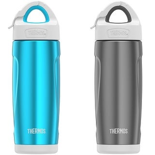 Thermos 18 oz. Insulated Stainless Steel Sport Water Bottle with Covered Straw - 18 oz.