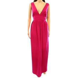 Jill Stuart NEW Pink Women's Size 12 V-Neck Empire Waist Maxi Dress
