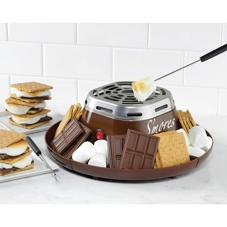 Nostalgia Electrics Smm200 S'mores Maker - Brown - Indoor Marshmallow Roaster