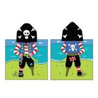 Kreative Kids Boys Girls Pirate Cap Bath Towel One Size