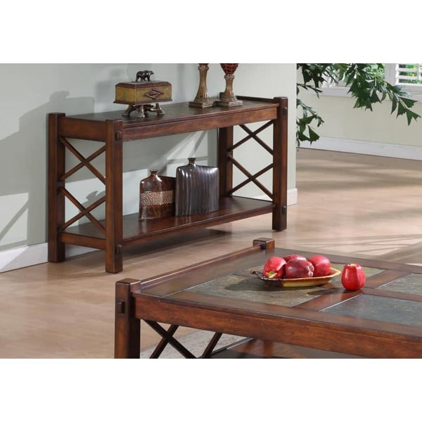 Shop Monarch Specialties I 7826s 50 Inch Wide Slate Top Mdf Console