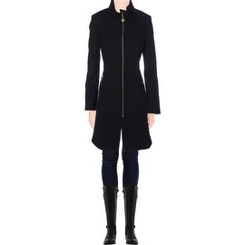 Elie Tahari Womens Loraina Wool Cowl Neck Coat