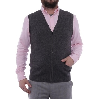 Perry Ellis Principles Sleeveless V-Neck Sweatervest Men Sweater Top