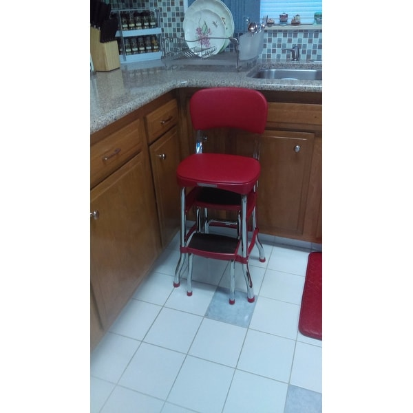 Shop Cosco Retro Counter Chair / Step Stool   Free Shipping Today    Overstock.com   8026500